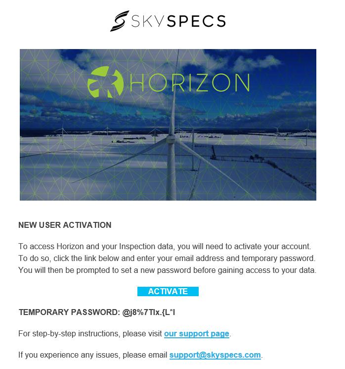 Horizon Login Instructions – SkySpecs